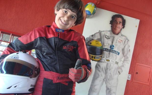 Manfredo Marello, piloto mirim de kart (Foto: Fernando Alves/TV Vanguarda)