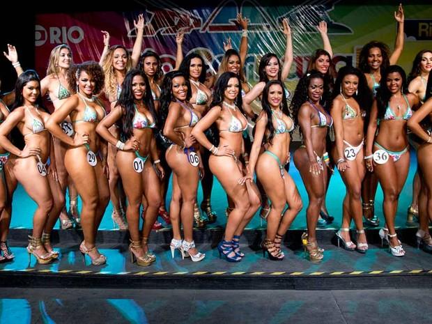 Vinte mulheres participam da semifinal do concurso que vai eleger a Rainha do Carnaval (Foto: Fernando Maia / Divulgação/ Riotur)