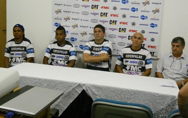 Márcio Diogo, Léo Mineiro, Pedro Paulo e Janilson - XV de Piracicaba (Foto: Guto Marchiori/Globoesporte.com)