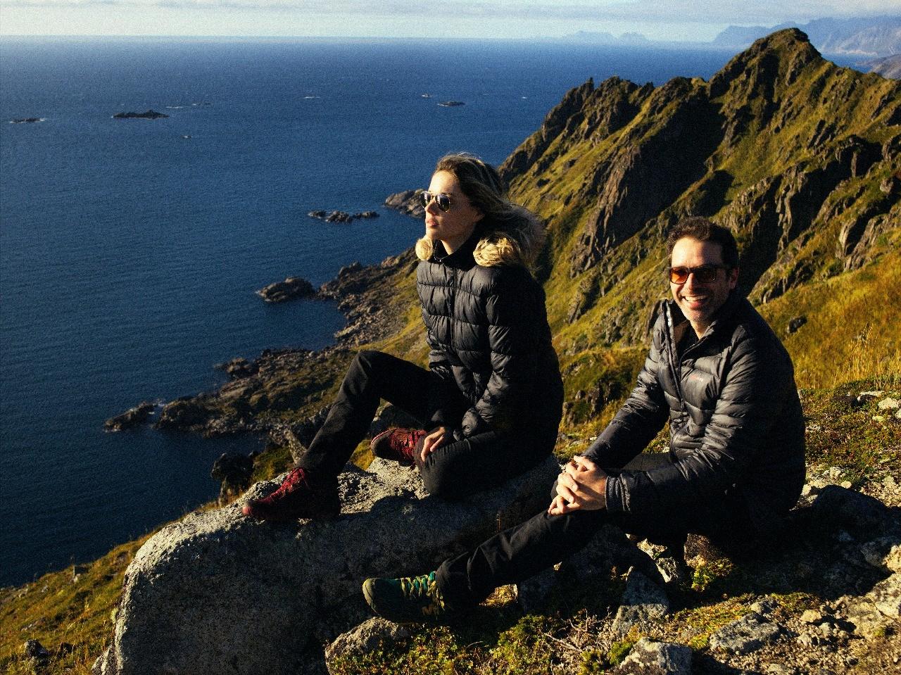 Gustavo e Pati na Noruega (Foto: Gustavo Zylbersztajn)