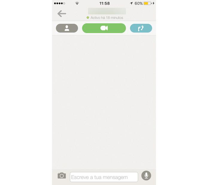 Bate papo com um usuário do Tendem para iPhone (Foto: Reprodução/Marvin Costa)