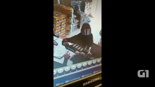 Criminoso assalta loja de materiais de construção; assista