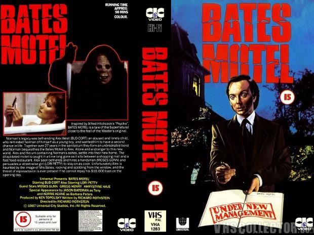 Capa do VHS do filme de Bates Motel (Foto: Divulgao)