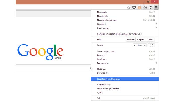Logue no Chrome (Foto: Reprodução/Paulo Alves)