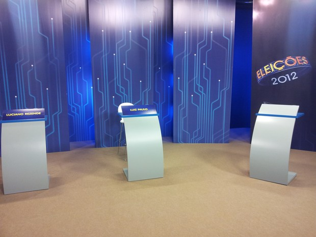 Estúdio onde será feito o último debate entre os candidato de Vitória (Foto: Leandro Nossa/G1 ES)