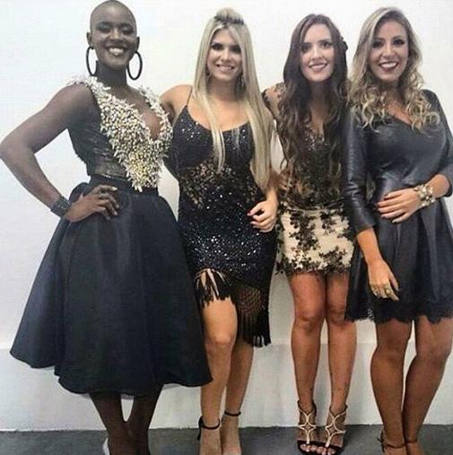 Angélica, Julia, Thamires e Francieli (Foto: Reprodução/Twitter)