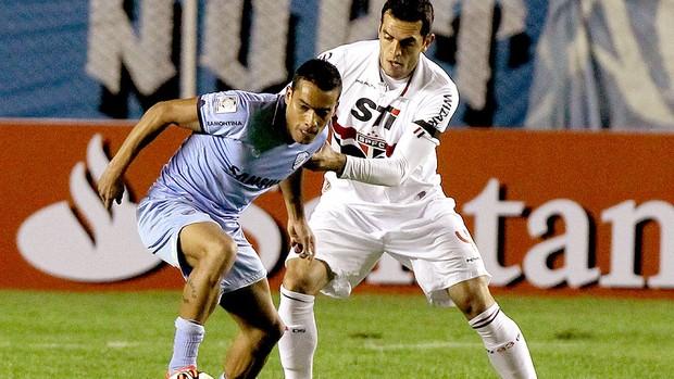 Rhodolfo na partida do São Paulo contra o Bolívar Libertadores (Foto: EFE)