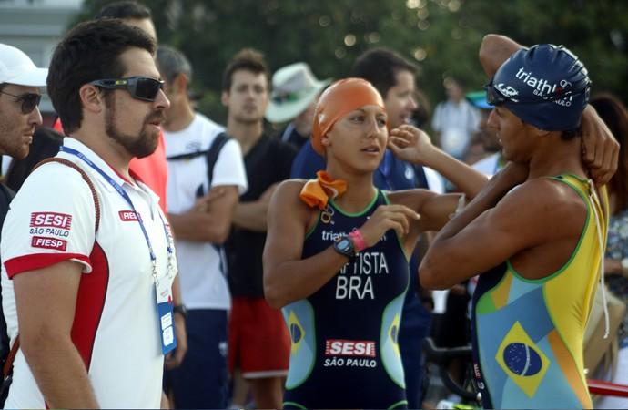 Luisa Baptista e Manoel Messias, triatletas brasileiros (Foto: Cleber Akamine)