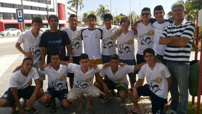 Seleção paraibana juvenil de polo aquático, em Aracaju (Foto: Divulgação )