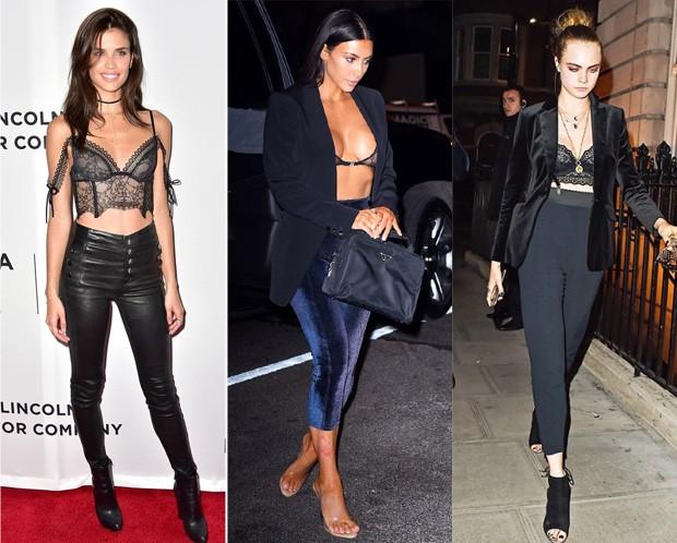 Sara Sampaio, Kim Kardashian e Cara Delevingne (Foto: Reprodução )