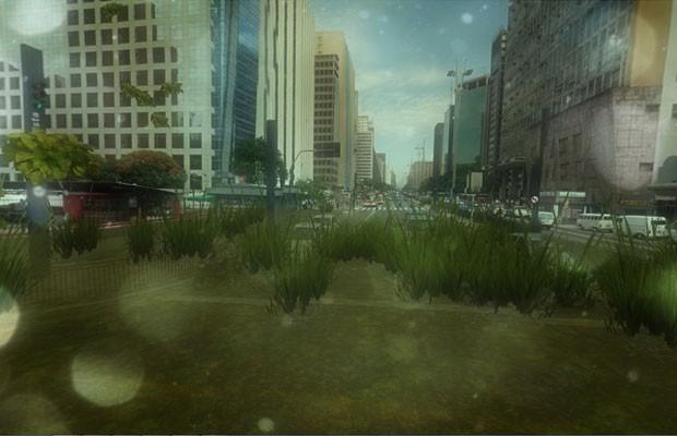 Site 'Urban Jungle Street View' transforma ruas exibidas pelo serviço do Google em selvas. (Foto: Reprodução/'inear.se/urbanjungle)