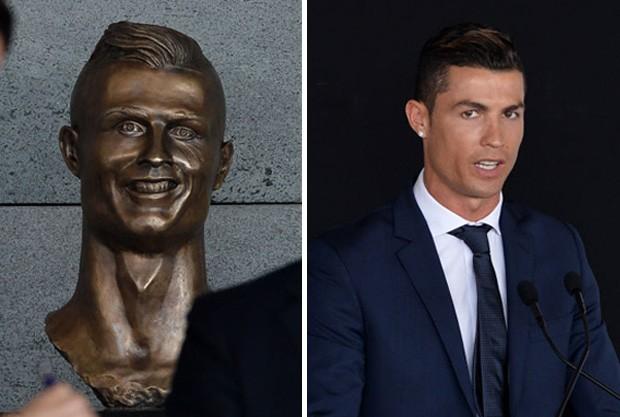 Estátua de Cristiano Ronaldo (Foto: Getty Images)