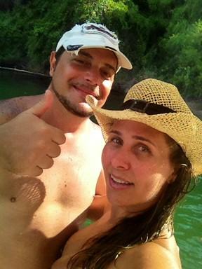 Andréia Sorvetão e o marido, Conrado (Foto: Arquivo Pessoal)