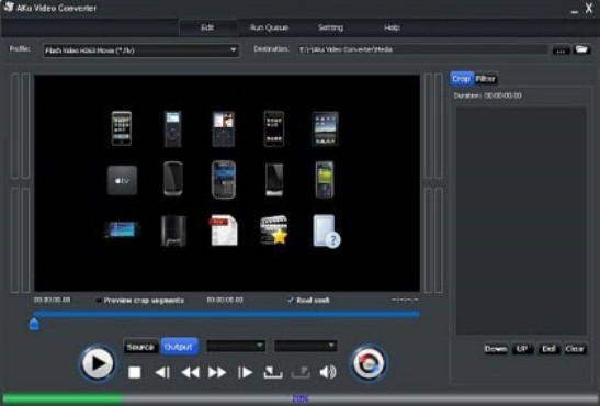 screenshot de AKu Video Converter