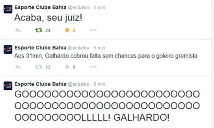 acaba seu juiz Bahia (Foto: Reprodução / Twitter)