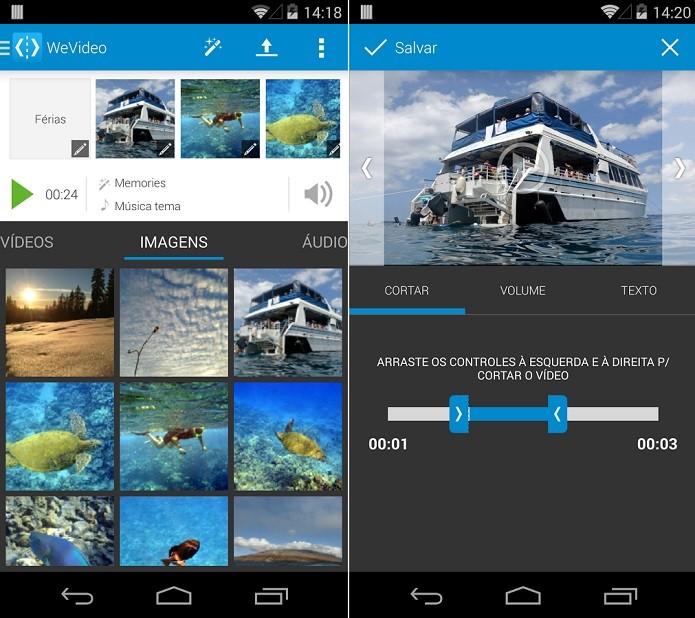 WeVideo ajuda a melhorar vídeos feitos no celular (Foto: Divulgação)