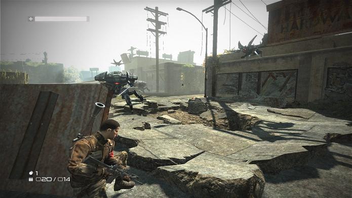 Com excelentes gráficos e ótima dinâmica, Terminator Salvation é divertido game de guerra (Foto: Divulgação)
