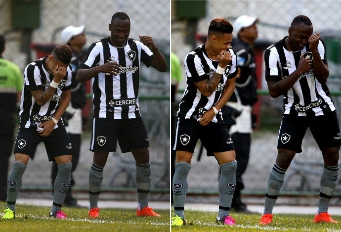Neilton, Sassá, Botafogo (Foto: Vitor Silva / SSpress / Botafogo)