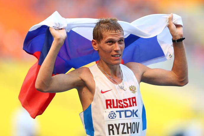 Mikhail Ryzhov marcha atlética 50km atletismo Russia (Foto: Paul Gilham \ Getty Image)