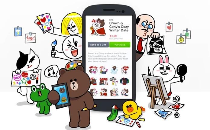 Line, o WhatsApp japonês, tem até desenho oficial (Foto: Divulgação/Line)