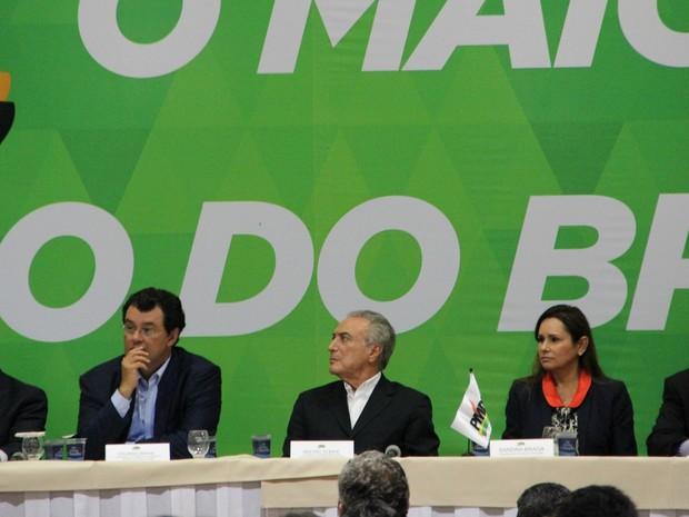 Temer participou de encontro do PMDB em Manaus (Foto: Adneison Severiano/G1 AM)
