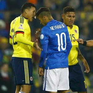 Murillo Neymar Colômbia Brasil (Foto: AP)