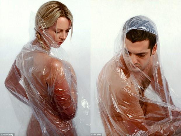 Duas das imagens do artista Robin Eley; pinturas a óleo parecem fotografia (Foto: Reprodução)