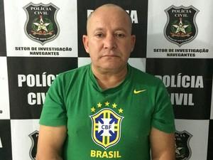 Valdevino Moreira, preso por aplicar o golpe da nota preta em Navegantes (Foto: Divulgação/Polícia Civil)