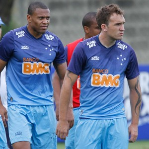 Dagoberto, júlio Baptista, Willian Farias e Alex, jogadores do Cruzeiro (Foto: Washington Alves / Light Press)