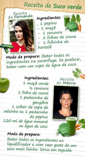 suco verde (Foto: Amor à Vida / TV Globo)