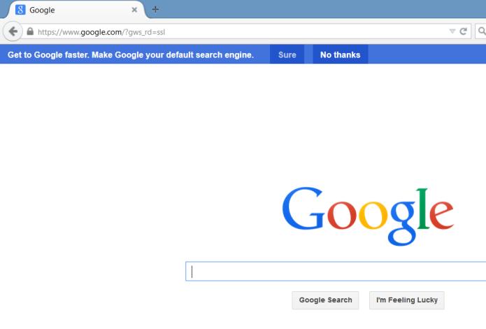 Mensagens do Google alertam que usuários podem trocar de mecanismo de pesquisa (foto: Reprodução/Search Engine Land)