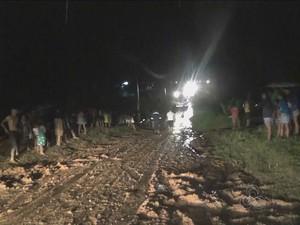 Acidente ocorreu em comunidade nas proximidades de Tabatinga (Foto: Reprodução/TV Amazonas)