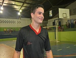 Artilheiro do Divino FC de futsal, de Ariquemes, Rondônia (Foto: Eliete Marques/GLOBOESPORTE.COM)