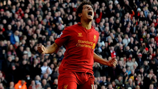 Philippe Coutinho liverpool gol swansea (Foto: Agência Getty Images)