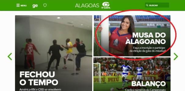 site do globoesporte.com/al  (Foto: Divulgação/ Marketing TV Gazeta)