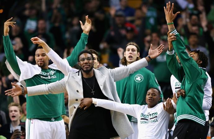 Celtics comemoração contra Warriors NBA (Foto: Getty)