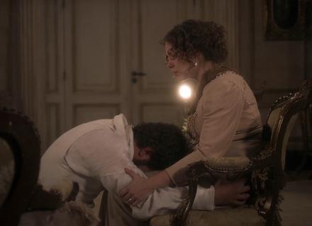 Pedro pede perdão de joelhos para Leopoldina