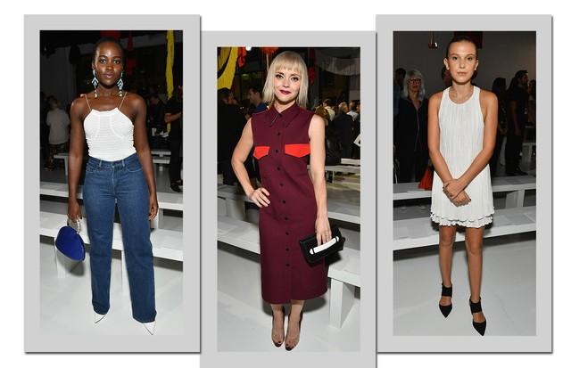 Da esquerda para a direita: Lupita Nyong'o, Christina Ricci e Millie Bobby Brown (Foto: Getty Images)