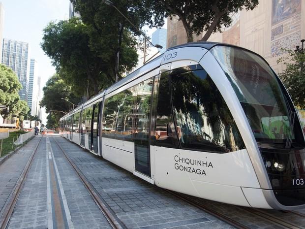VLT fará trajeto no Centro do Rio (Foto: Divulgação / Secretaria Municipal de Transportes do Rio)