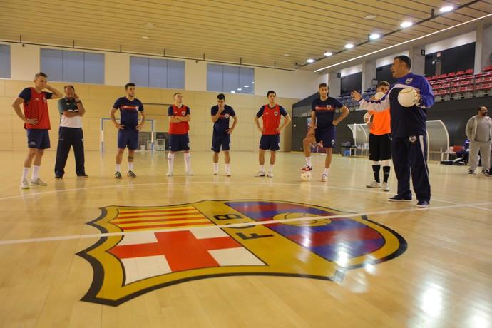 Seleção Brasileira de Futsal Barcelona (Foto: Ricard Rovira)