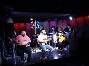 Trio de Ferro grava DVD em casa noturna de Santos (Foto: Divulgação)