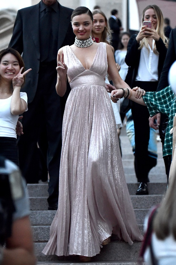 Miranda Kerr na semana de moda de Milão (Foto: Getty Image)