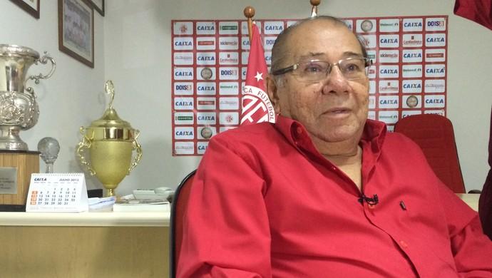 José Rocha, presidente do Conselho Deliberativo do América-RN (Foto: Klênyo Galvão/GloboEsporte.com)
