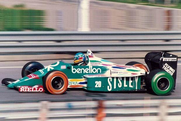 Benetton em seu GP de estreia na Fórmula 1, em 1986 (Foto: Divulgação)