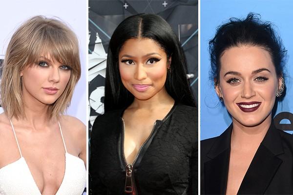 Taylor Swift, Nicki Minaj e Kate Perry (Foto: Getty Images)