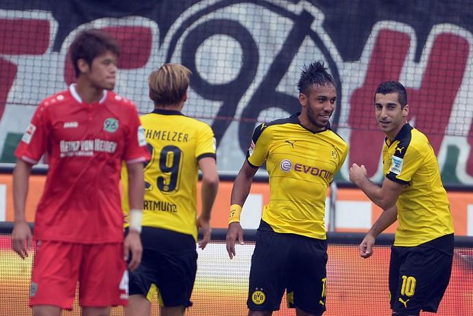 Aubameyang - Hannover 96 x Borussia Dortmund (Foto: AP)