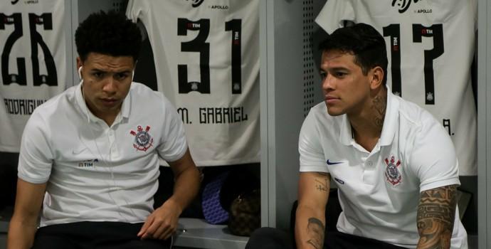Marquinhos Gabriel e Giovanni Augusto, Corinthians (Foto: Rodrigo Gazzanel/Ag. Corinthians)