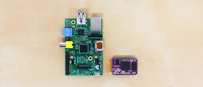 Onion Omega mede apenas um quarto do tamanho de uma Raspeberry Pi (Foto: Reprodução/Kickstarter)