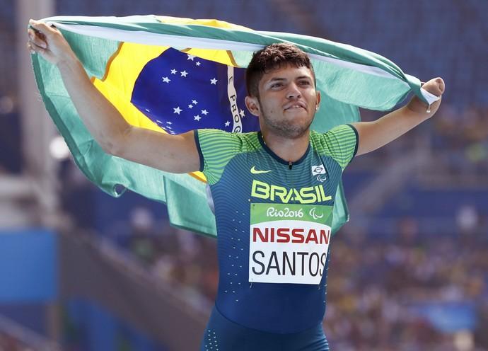 Petrucio Ferreira ouro 100m T47 paralimpíada rio 2016 atletismo (Foto: Reuters)