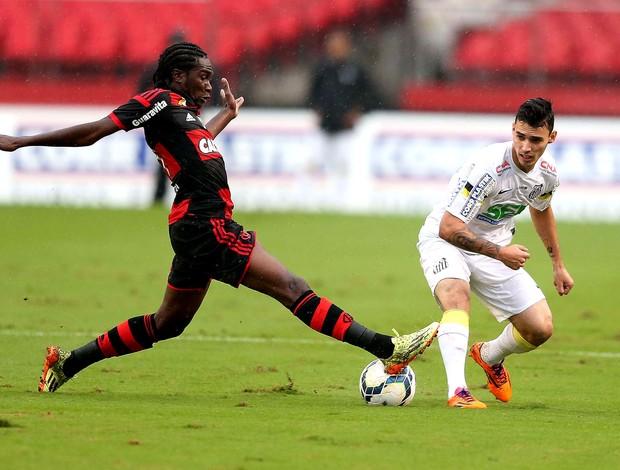 Negueba Flamengo e Santos (Foto: Marcos Ribolli / Globoesporte.com)